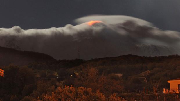 Image prise depuis le village de Catania en Sicile, village le plus proche de l'Etna.