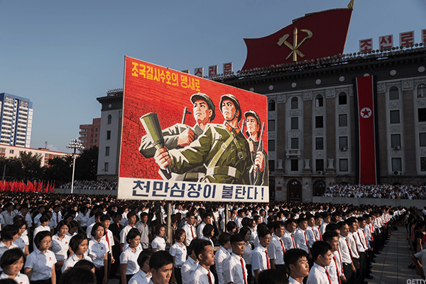 The North Korean nuclear dispute might have quieted down for now, but it's still a risky world of there -- so defense stocks should do well.