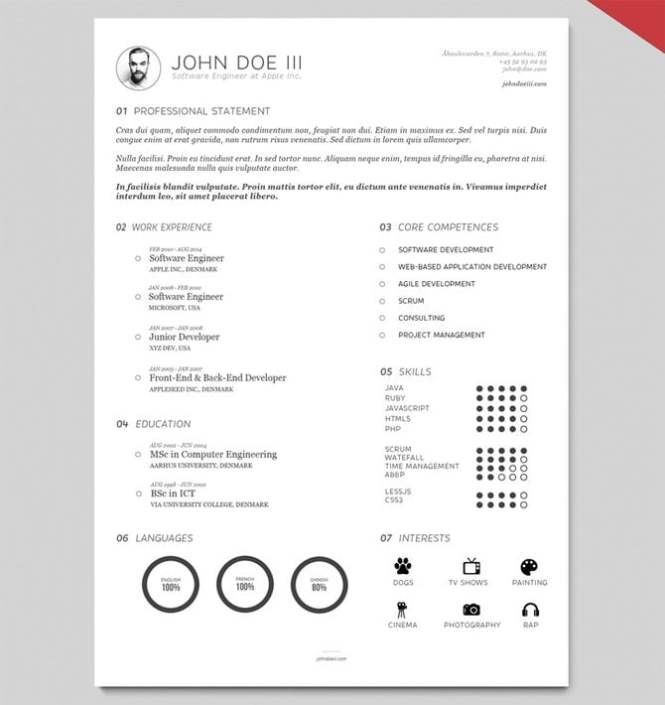Catchy Resume Templates - Resume Sample