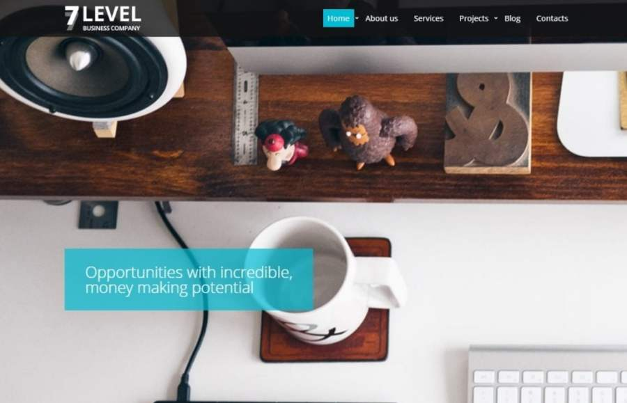 7 Level Website Template