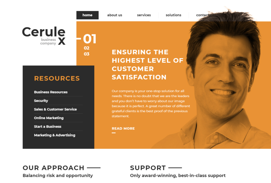 Cerulex Website Template