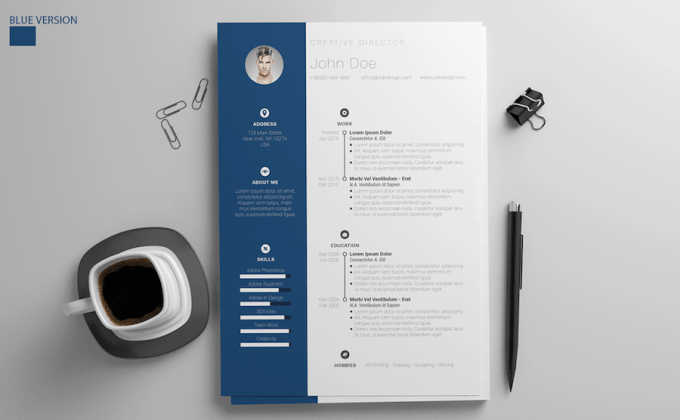 65 Eye Catching Cv Templates For Ms Word Free To