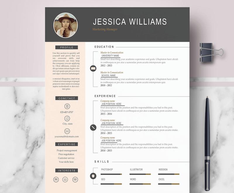 free modern word resume templates