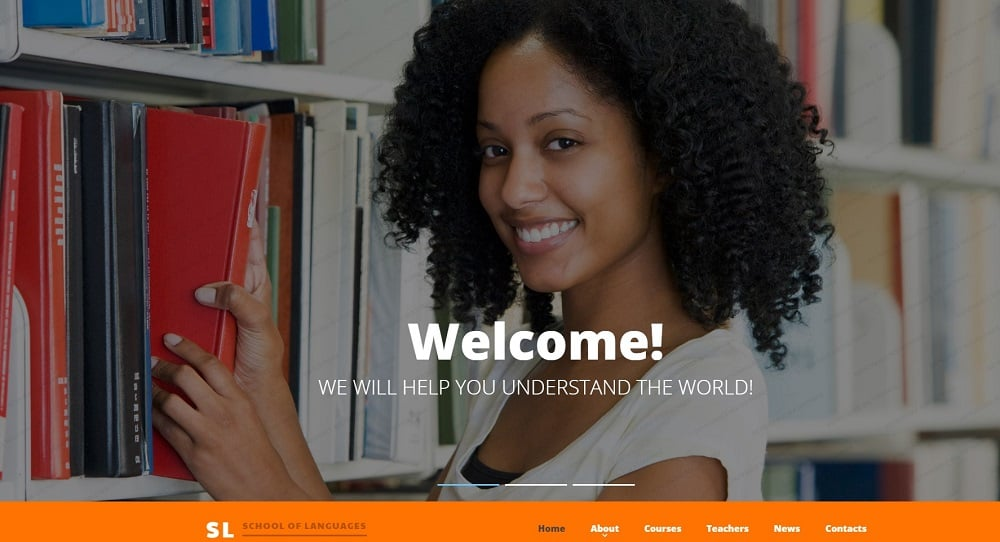 School of Languages Website Template