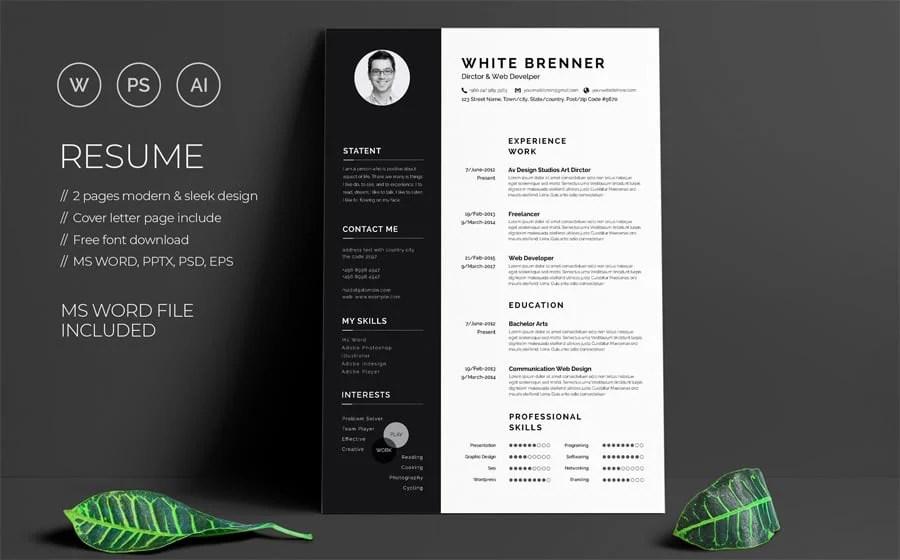 40 Best 2018 S Creative Resume Cv Templates Browsify Corporation