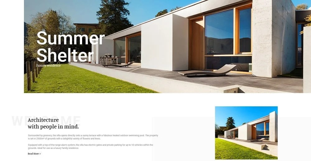 Cottager - Luxury Real Estate Elementor Template