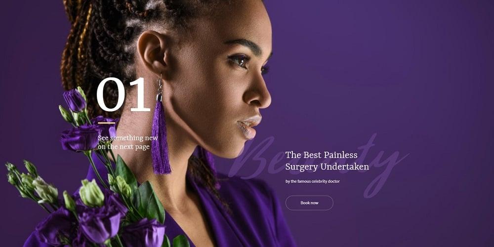 Purplex - Spa Salon Elementor Template