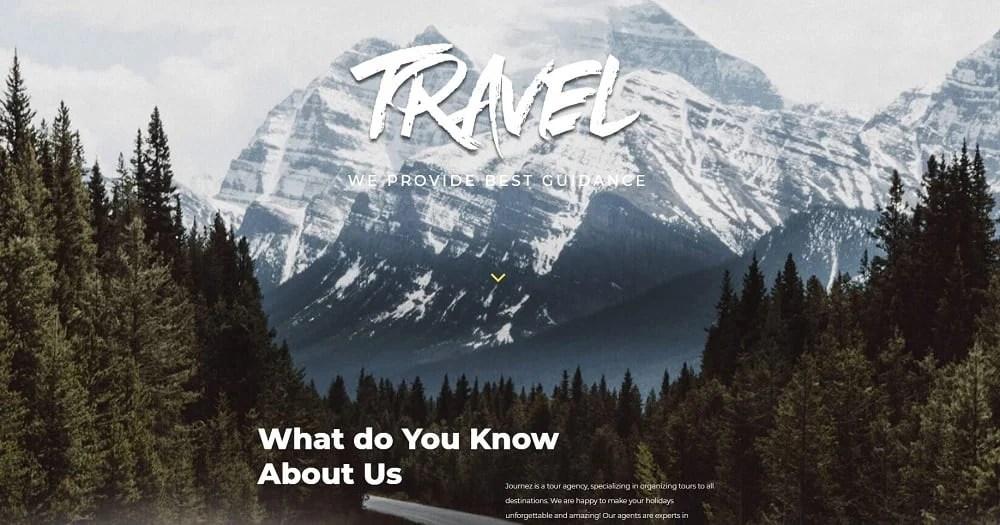Tournet - Travel Agency Elementor Template