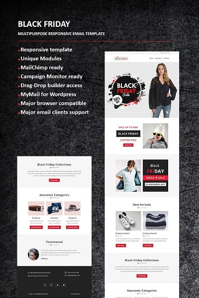 Black Friday - Email Newsletter Template