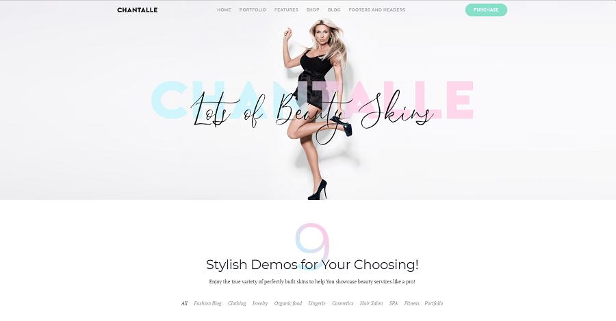 Chantalle - Multipurpose Woman Fashion Elementor WordPress Theme