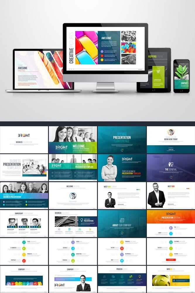 Bright Multipurpose Business Presentation Keynote Template