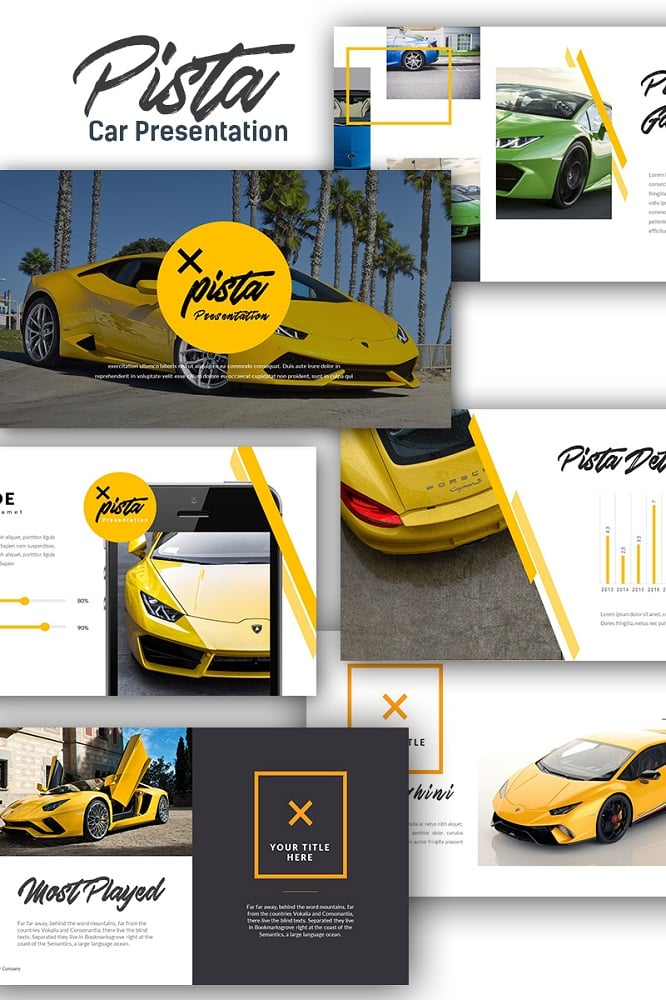 Pista Car Presentation Keynote Template