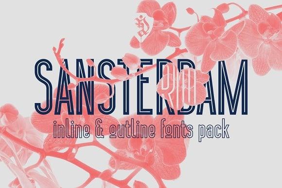 Sansterdam Inline & Outline Font