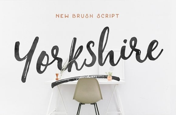 Yorkshire - Brush Script Font