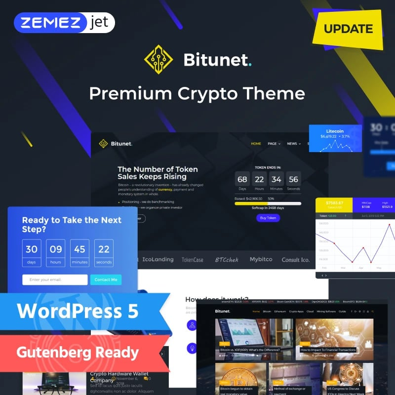 Cryptocurrency Elementor WordPress Theme