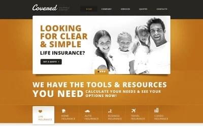Responsive website design web design and landing page. Life Insurance Agent Website Templates
