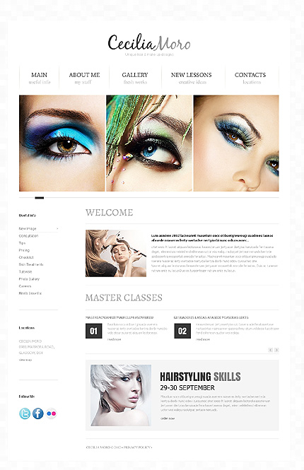 Edit text, text styles, backgrounds, size, and. Beauty Website Template Website Templates