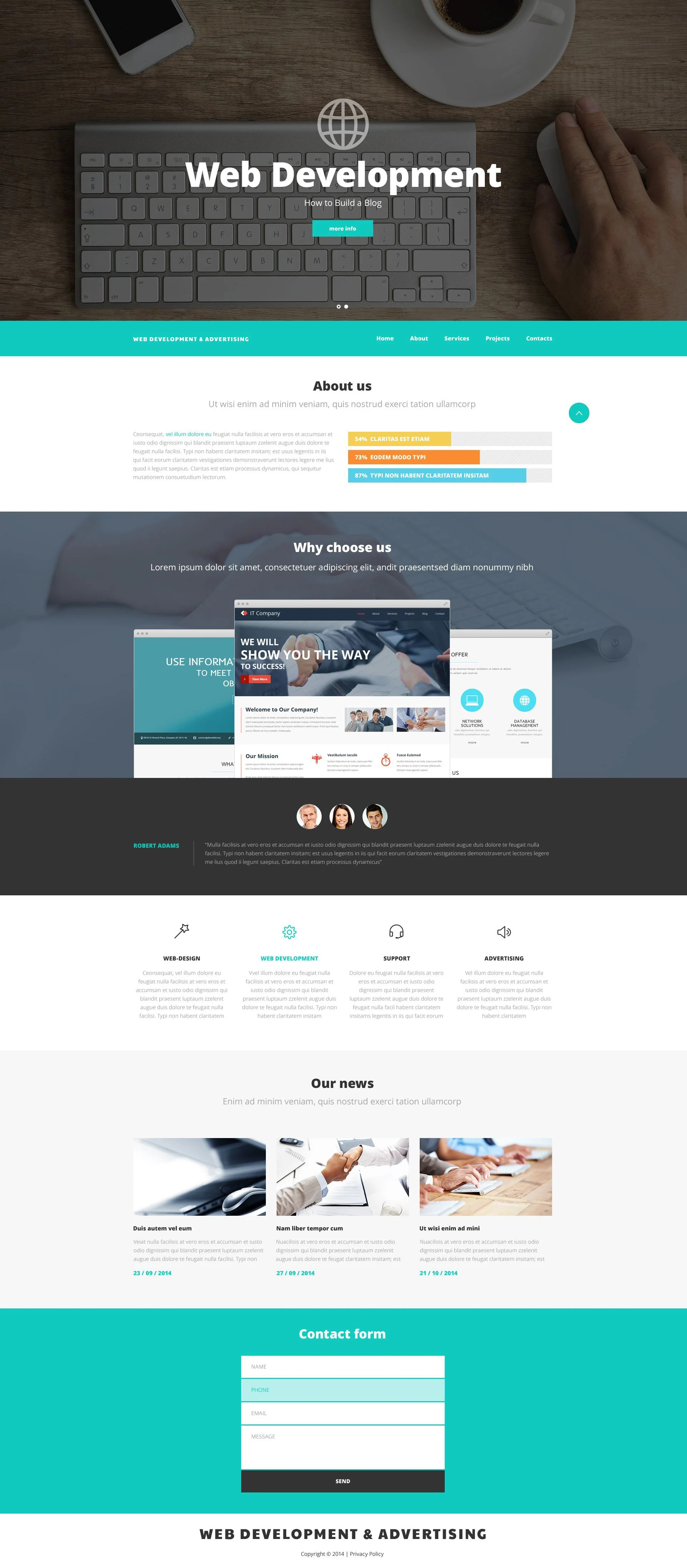 Web Design And Advertising Website Template