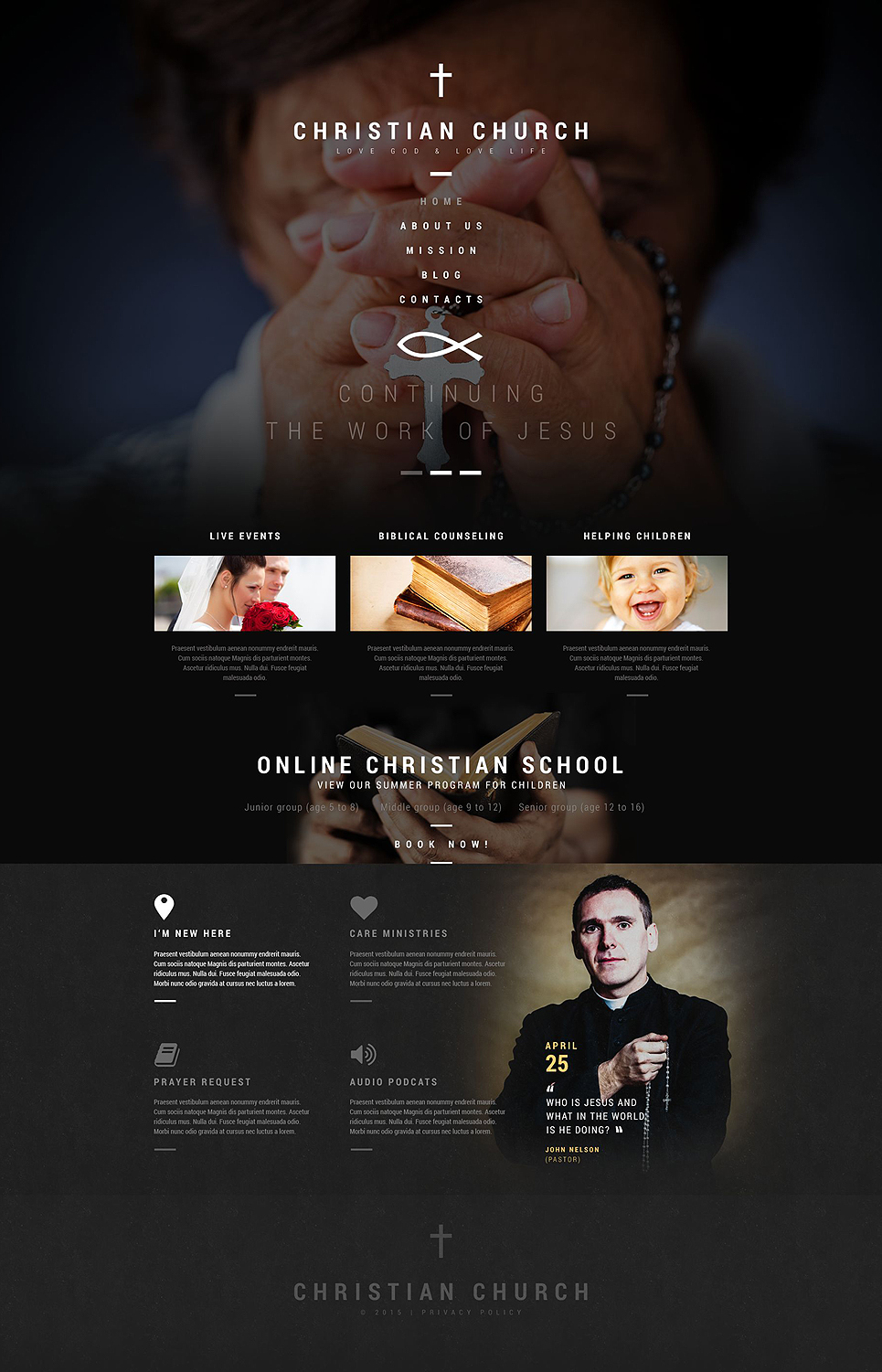 Christian Church Religious WordPress Theme