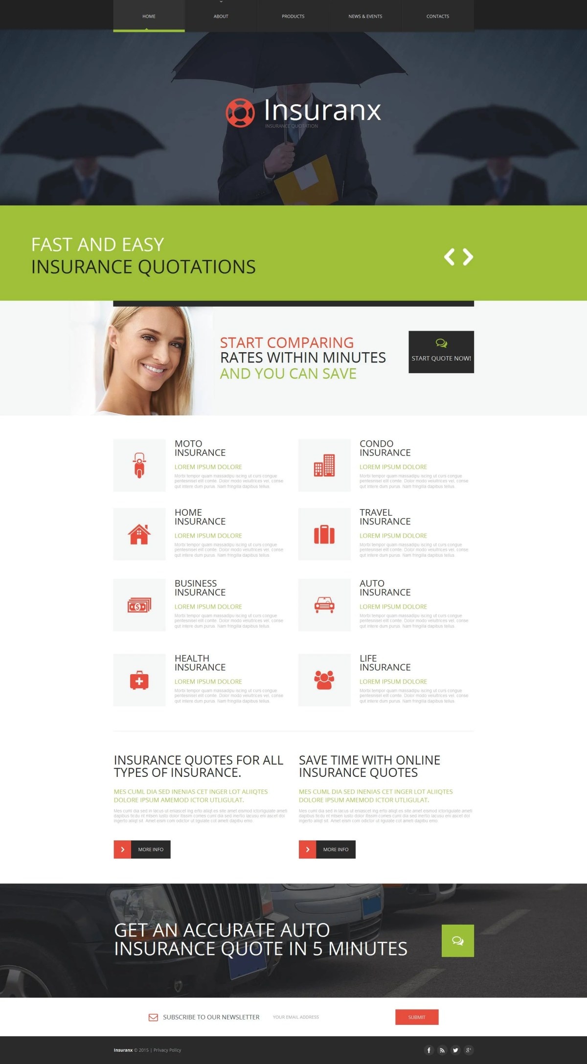Sample car insurance policy