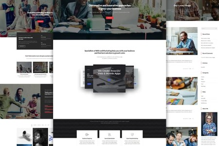 Monthly Timeline Wordpress Templates   Template Monster Norie Marketing Agency   Business Portfolio