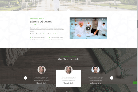 Monthly Timeline Wordpress Templates   Template Monster VienasBel   Islamic Religious   Cultural Center Premium WordPress Template   73432