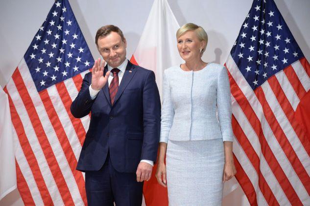 Prezydent Andrzej Duda z małżonką Agatą Kornhauser-Dudą przebywa z wizytą w Stanach Zjednoczonych (fot. PAP/Jacek Turczyk)