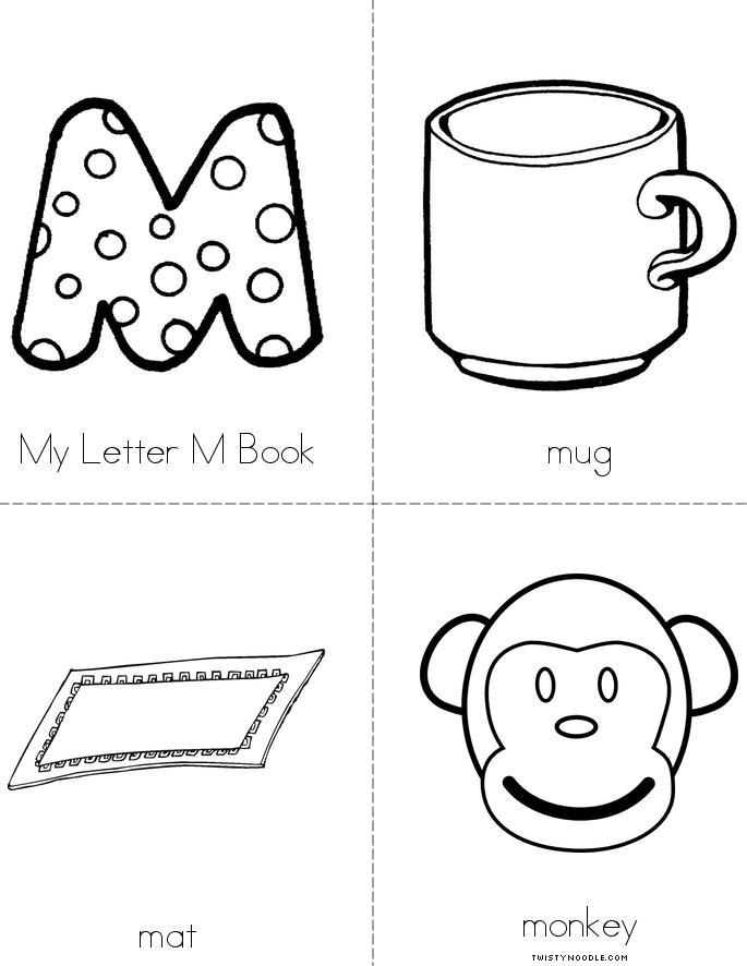 My Letter M Book Twisty Noodle