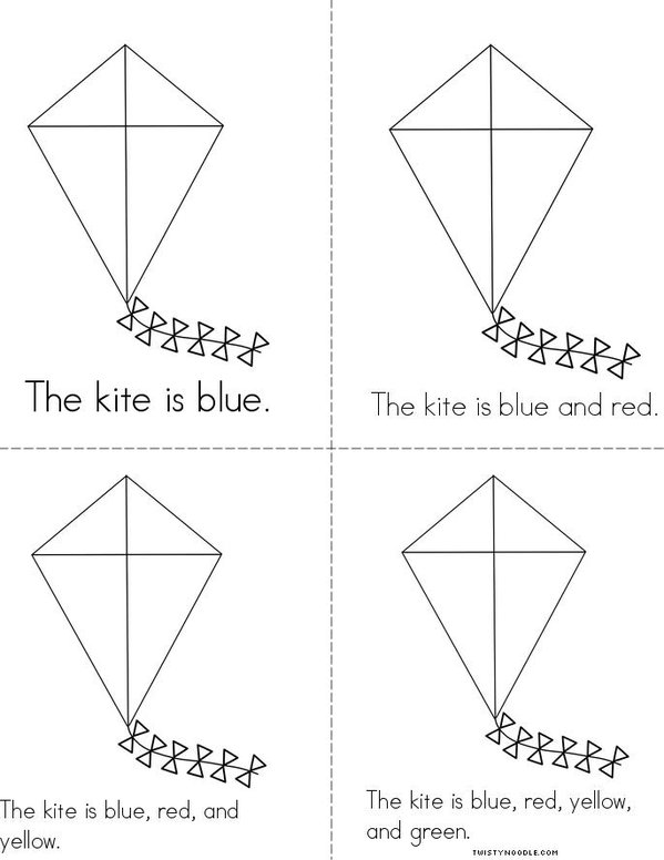 Color The Kite Book Twisty Noodle