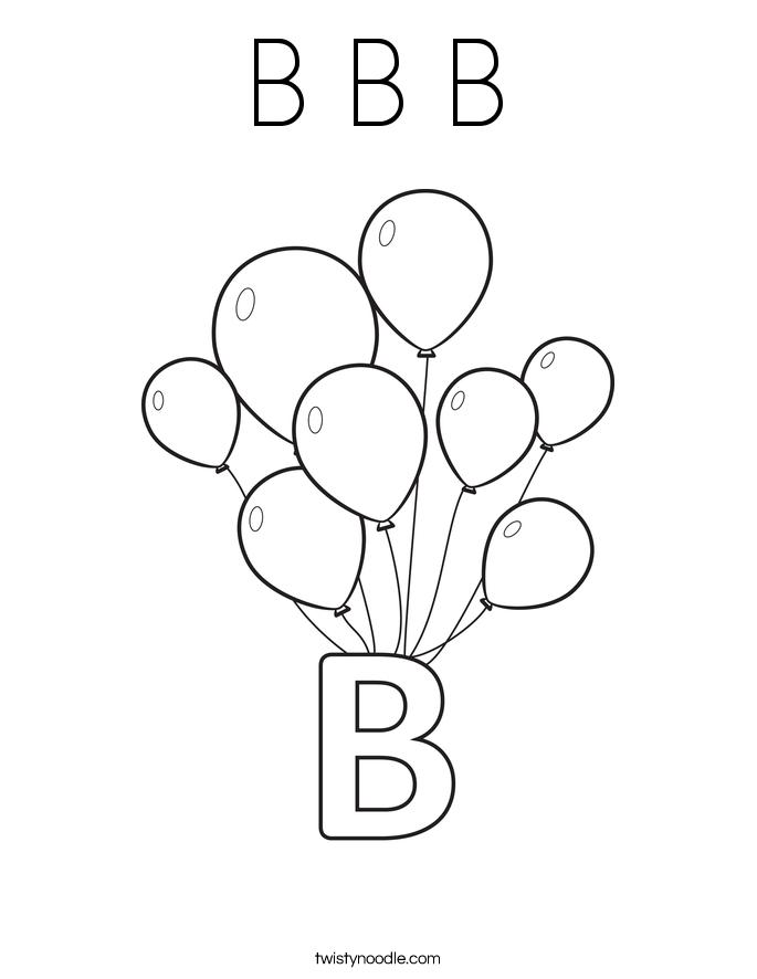 b b b coloring page  twisty noodle