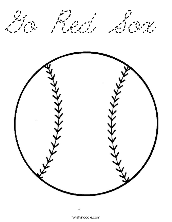 Go Red Sox Coloring Pages