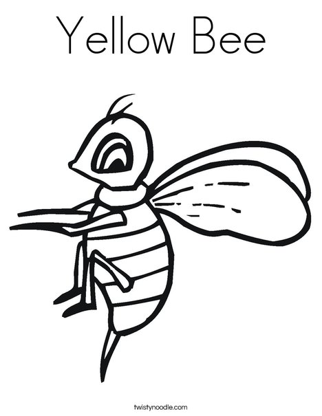 yellow bee coloring page  twisty noodle