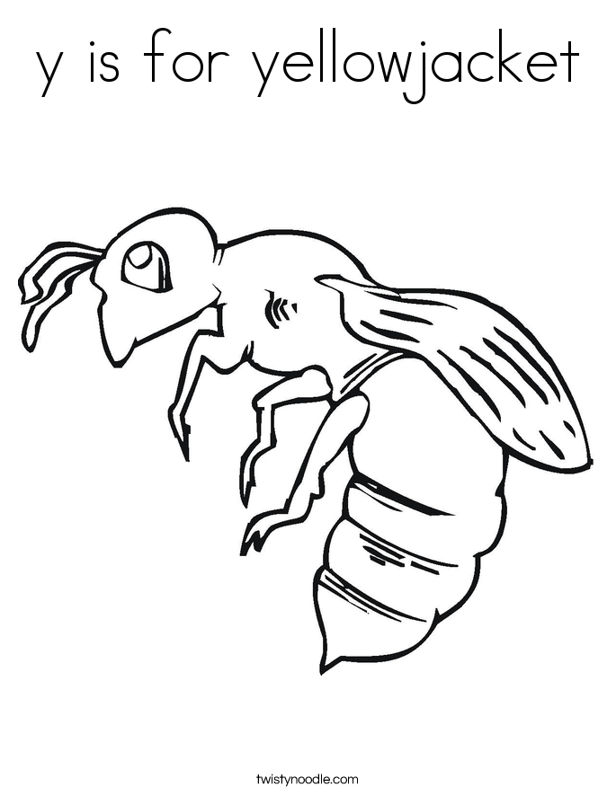 y is for yellowjacket coloring page  twisty noodle