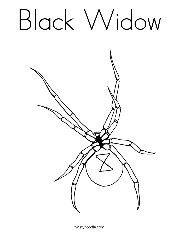 Black Widow Coloring Page Twisty Noodle