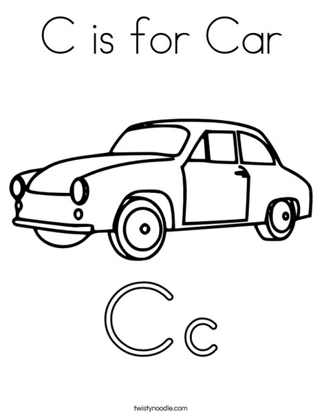 coloring page car # 7
