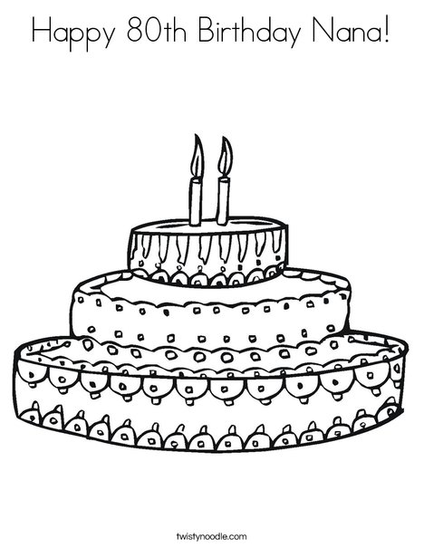 happy th birthday nana coloring page  twisty noodle