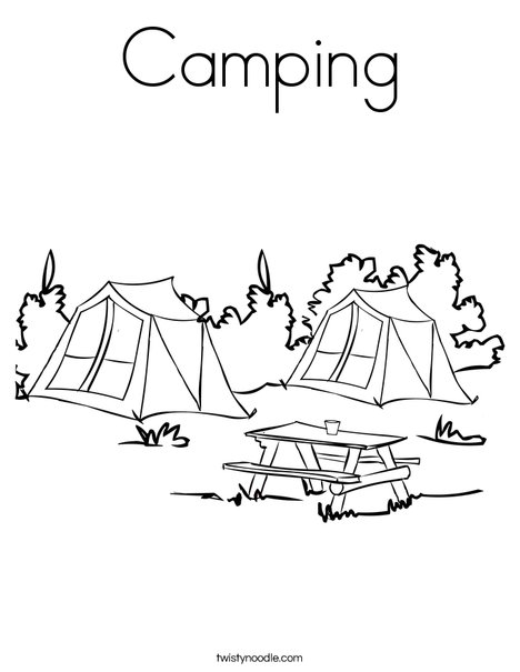 camping coloring page # 9