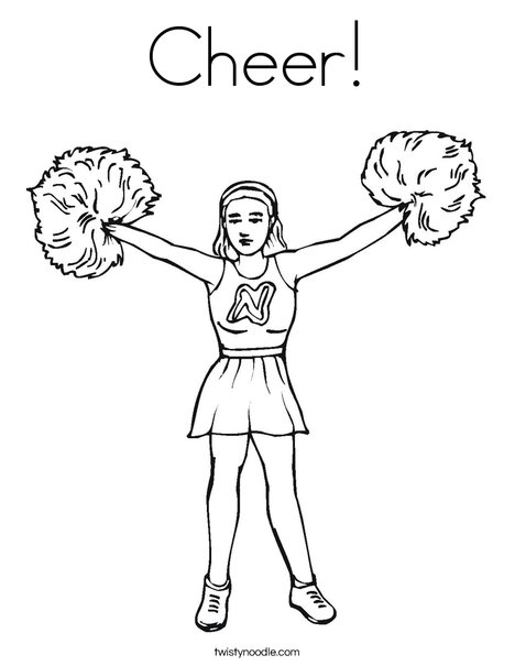 cheer coloring page  twisty noodle