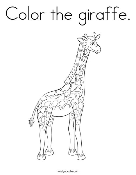 Color The Giraffe Coloring Page Twisty Noodle