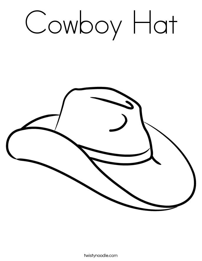 Cowboy Hat Coloring Page - Twisty Noodle