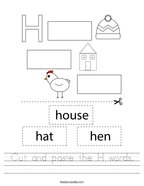 Letter H Worksheets Twisty Noodle
