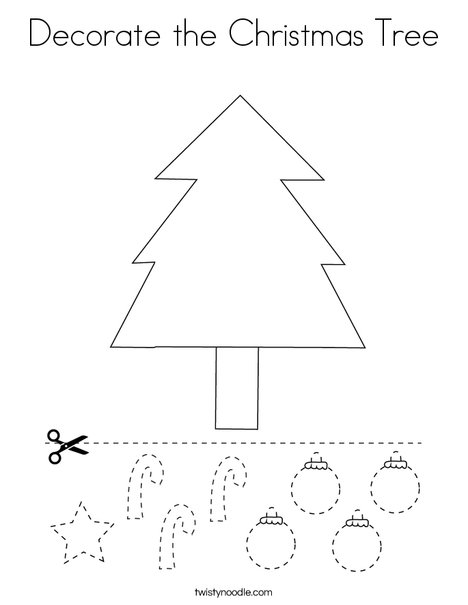 Decorate The Christmas Tree Coloring Page Twisty Noodle