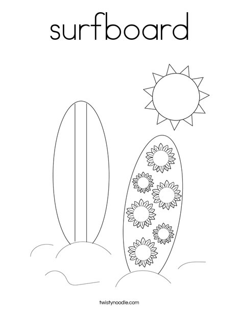 surfboard coloring page # 59