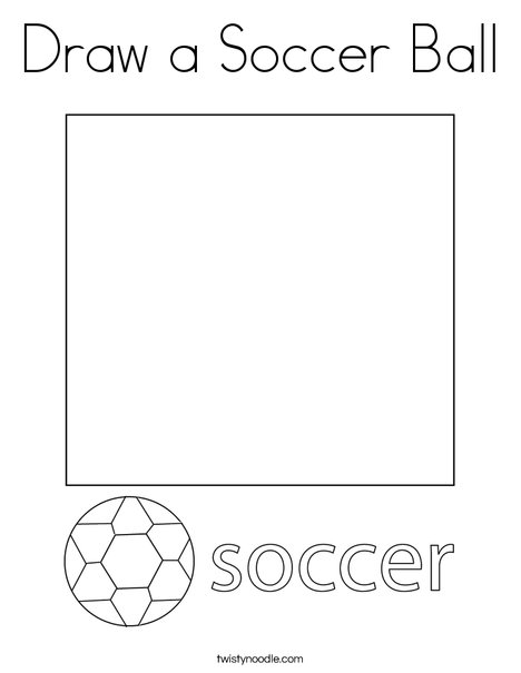 Draw A Soccer Ball Coloring Page Twisty Noodle