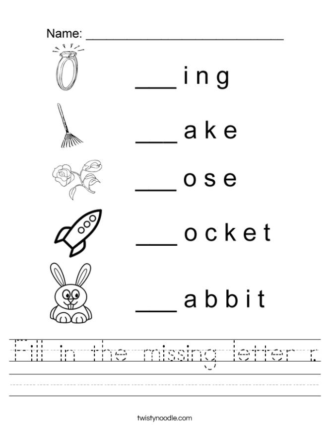 Missing Letter Worksheets - Page 3 - fallcreekonline.org