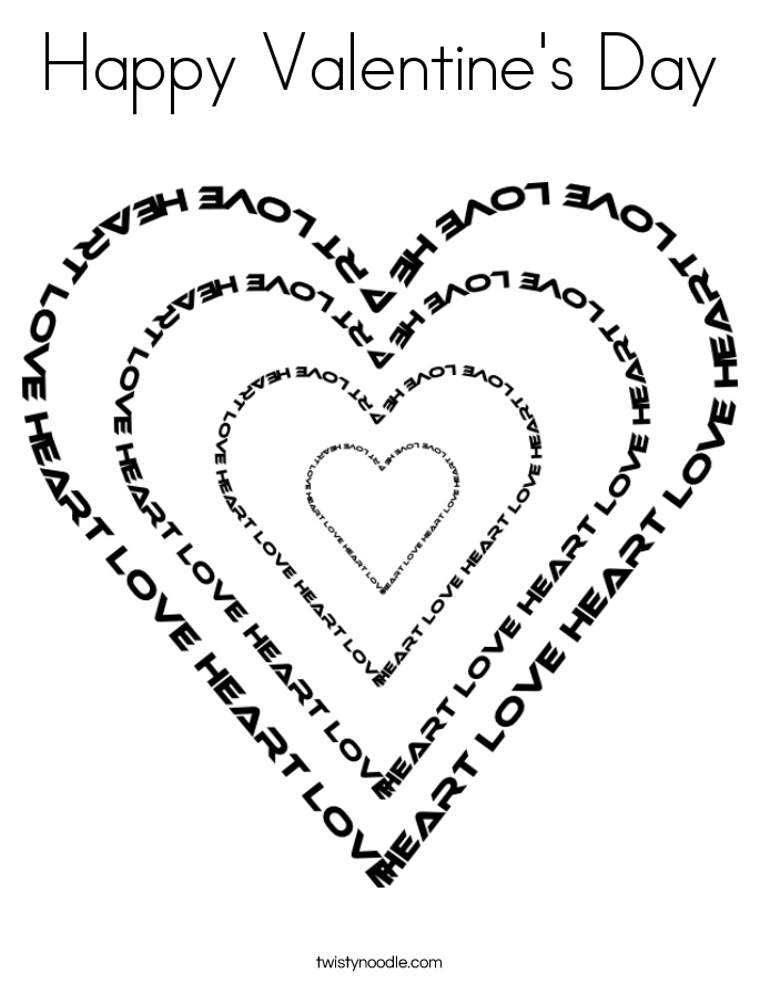Happy Valentines Day Mom Coloring Pages – Valentine\'s Day Info