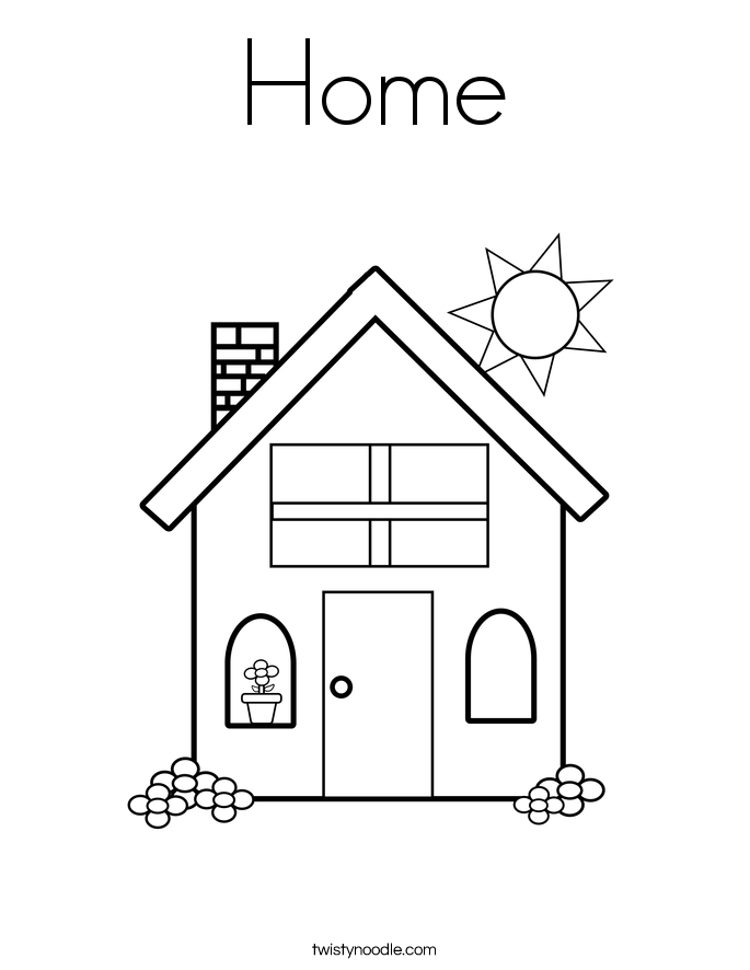 Home Coloring Page - Twisty Noodle