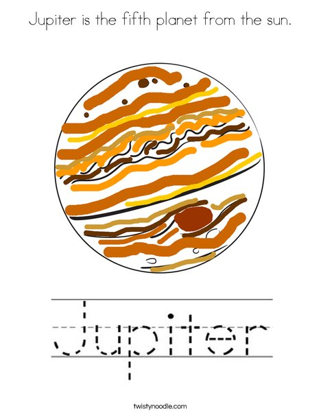 Jupiter is the fifth planet from the sun Coloring Page ...
