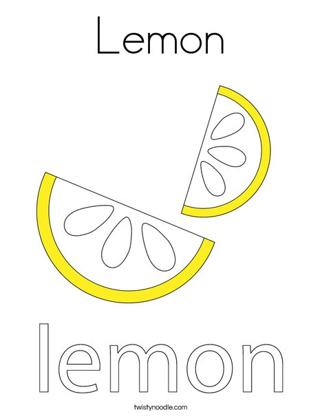lemon coloring page # 0