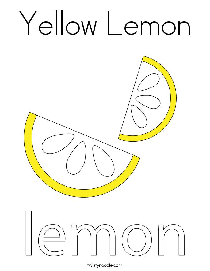 yellow lemon coloring page  twisty noodle
